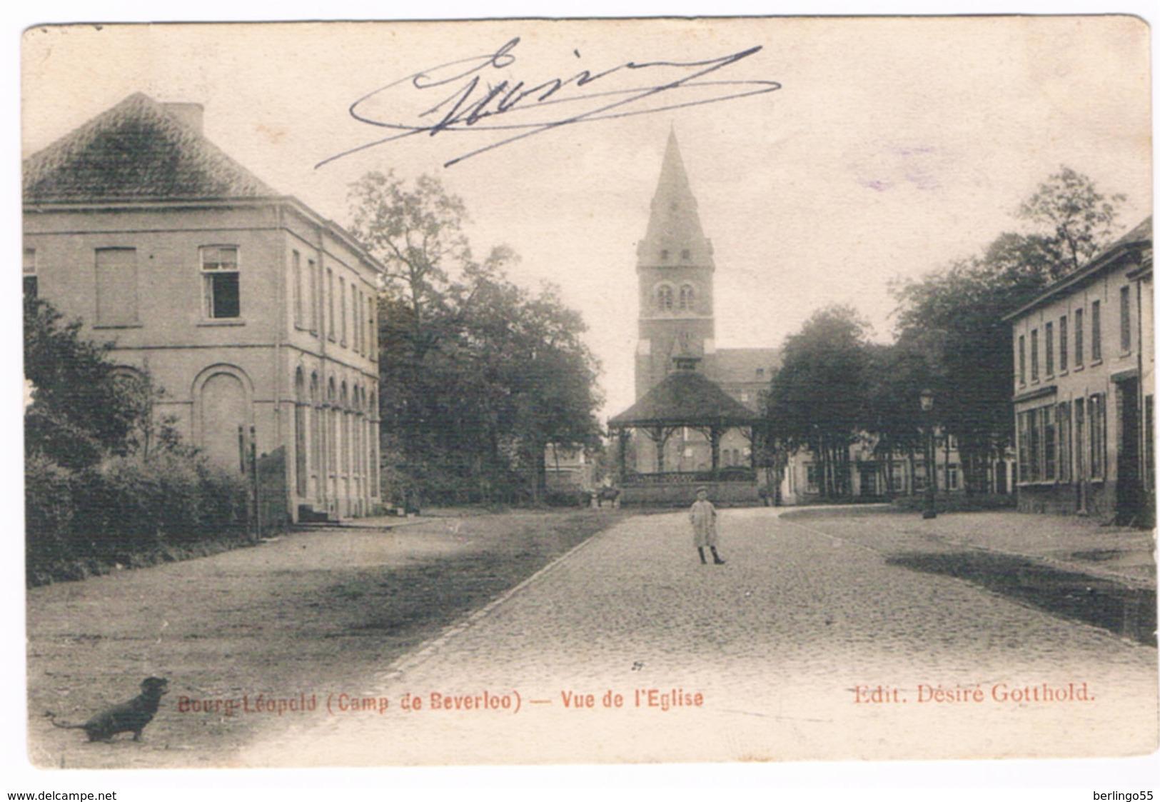 Bourg-Léopold - Vue De L'Eglise 1904  (Geanimeerd) - Leopoldsburg