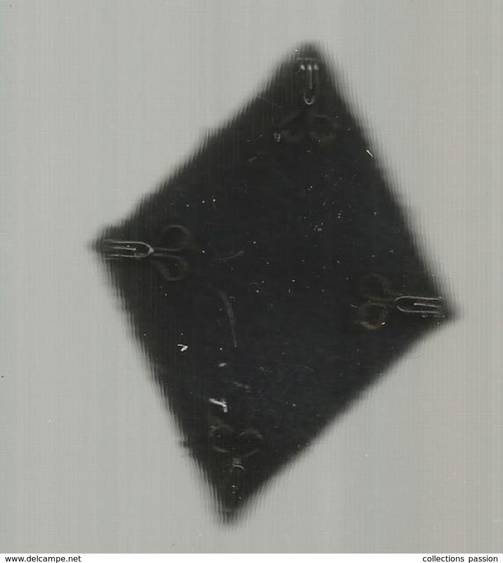 écusson Tissu , Losange, Marine , 2 Scans - Ecussons Tissu