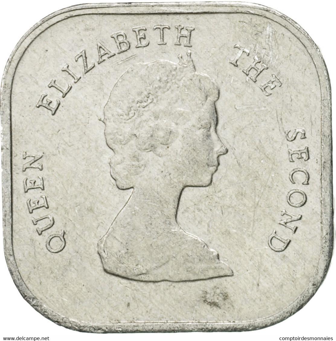 Monnaie, Etats Des Caraibes Orientales, Elizabeth II, 2 Cents, 1994, TTB - Caraïbes Orientales (Etats Des)