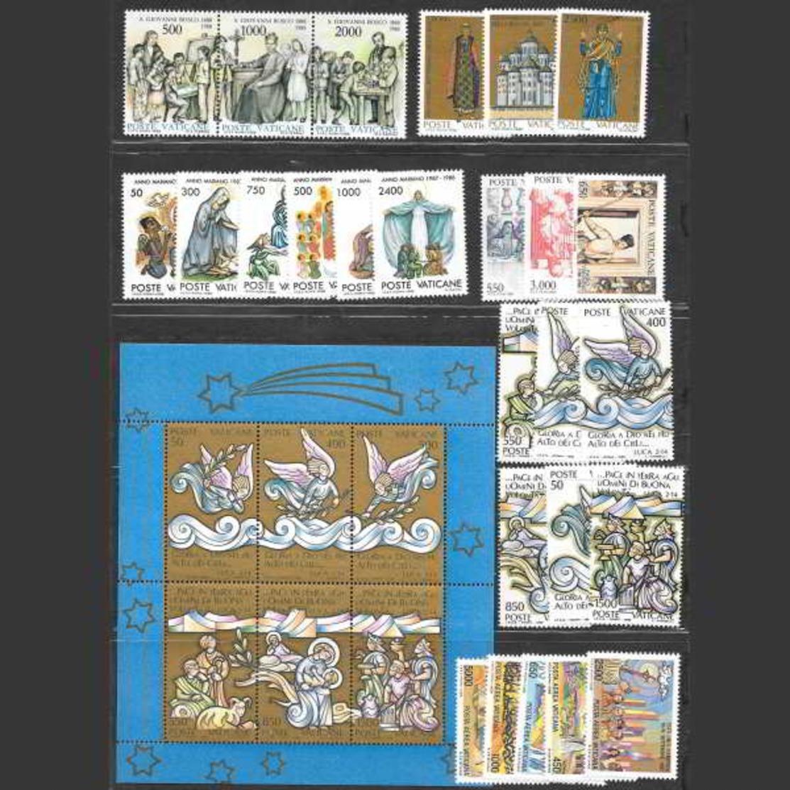 Vaticano 1988  Annata Completa Nuova/mnh** (incluso Foglietto E Posta Aerea) - Annate Complete