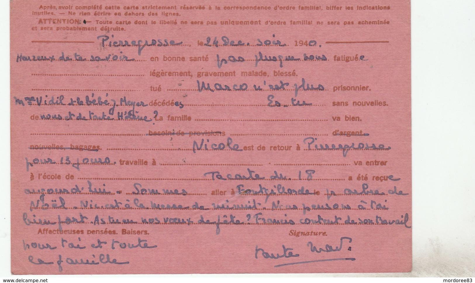ENTIER IRIS MOLINES EN QUEYRAS 1940 GRIFFE INADMIS TEXTE IRREGULIE POUR GRIGNON SEINE ET OISE - Cartes Postales Types Et TSC (avant 1995)