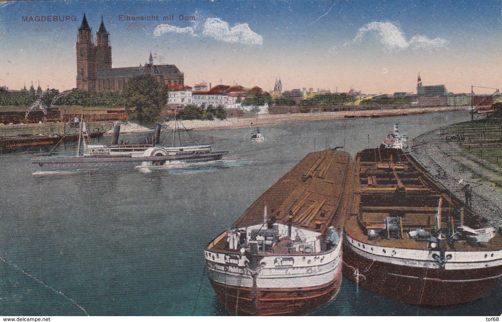 Magdeburg Elbansicht Mit Dom - Magdeburg