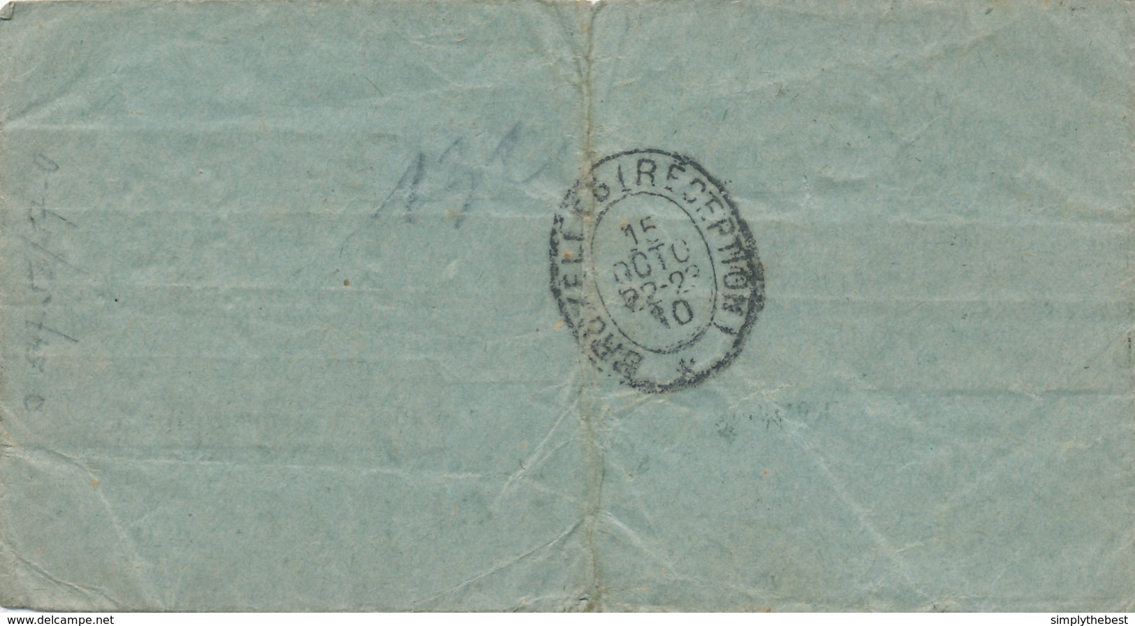 ZZ969 - TELEGRAMME RARE - SFAX Tunisie Vers BRUXELLES Belgique 1910 - Envoyé Par POSTE En Recommandé De LILLE Nord - Telegraaf-en Telefoonzegels