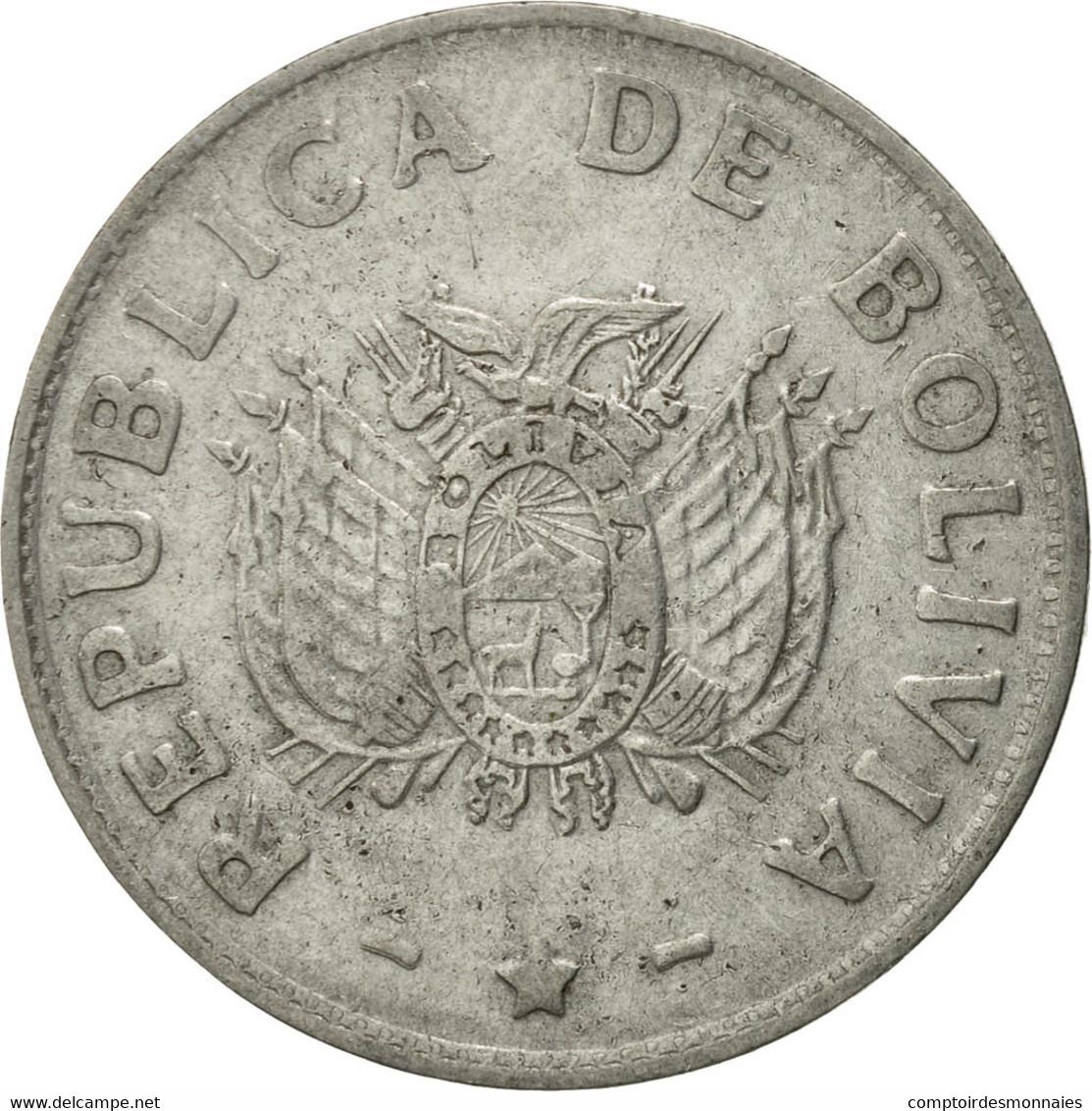Monnaie, Bolivie, Boliviano, 1991, TTB, Stainless Steel, KM:205 - Bolivie
