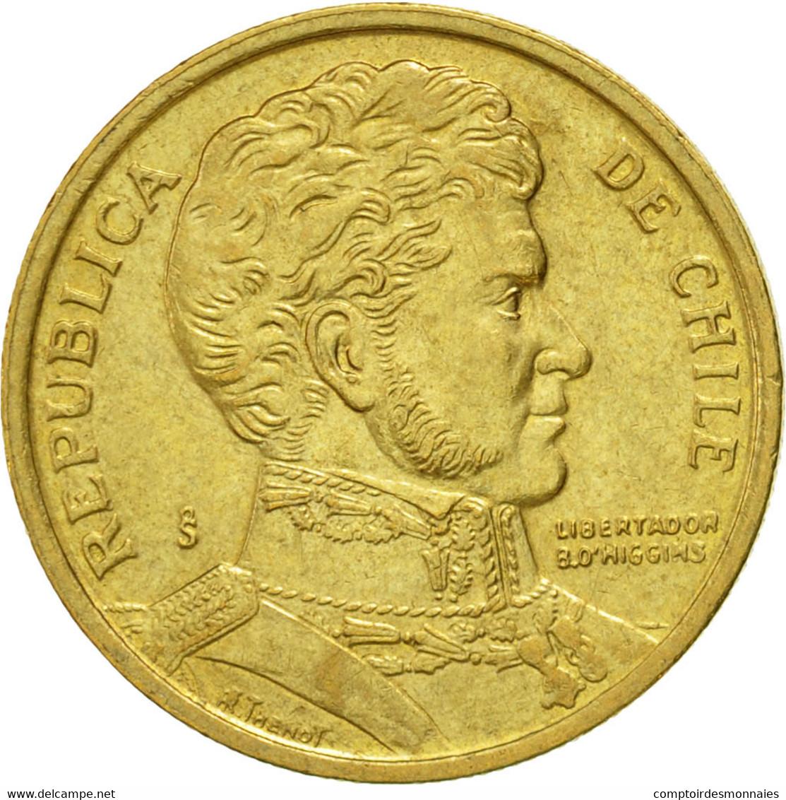 Monnaie, Chile, 10 Pesos, 1998, Santiago, SUP, Aluminum-Bronze, KM:228.2 - Chile
