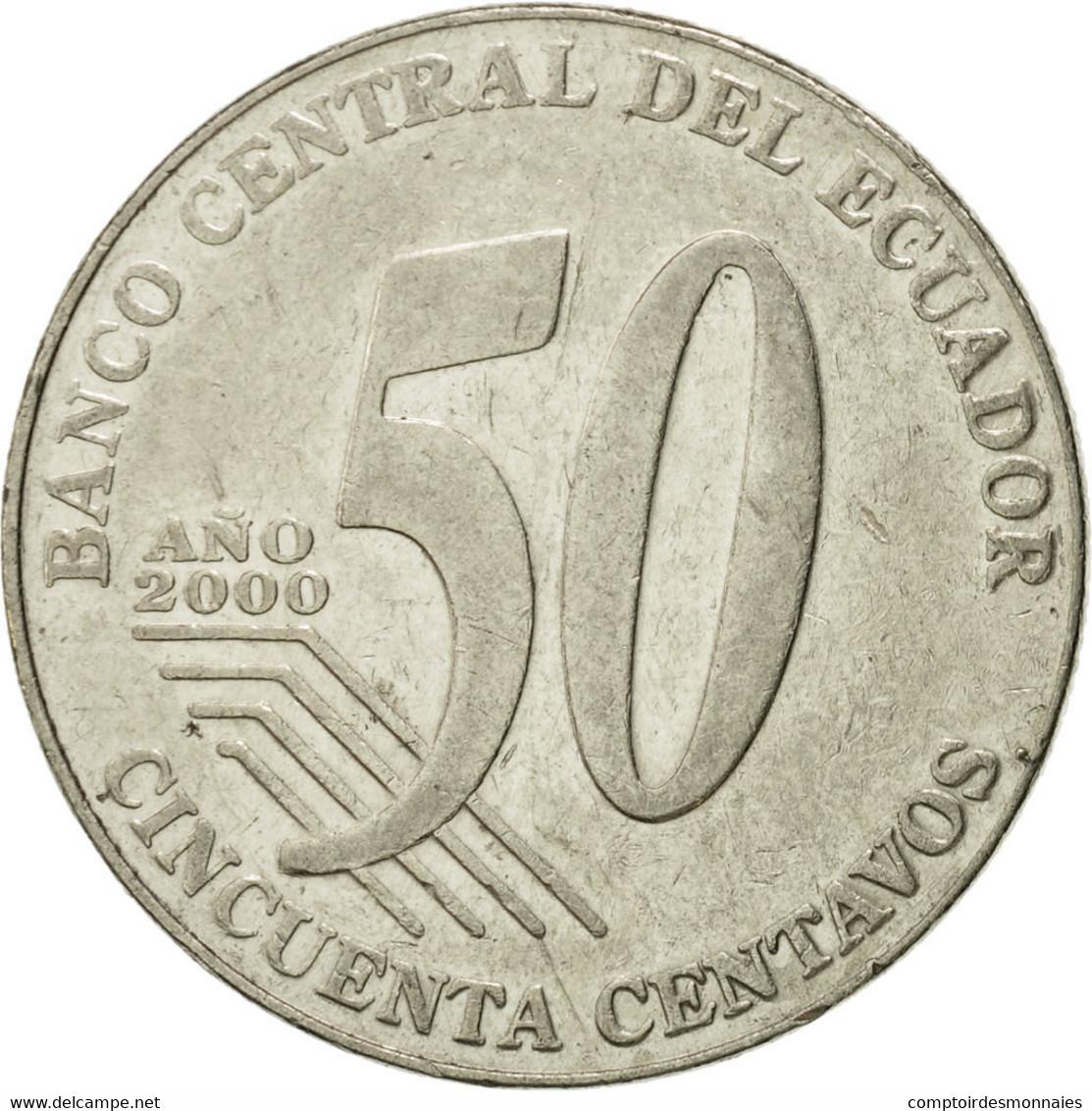 Monnaie, Équateur, 50 Centavos, Cincuenta, 2000, TTB, Steel, KM:108 - Equateur