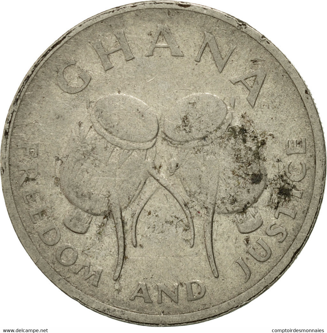 Monnaie, Ghana, 50 Cedis, 1997, TTB, Nickel Plated Steel, KM:31a - Ghana