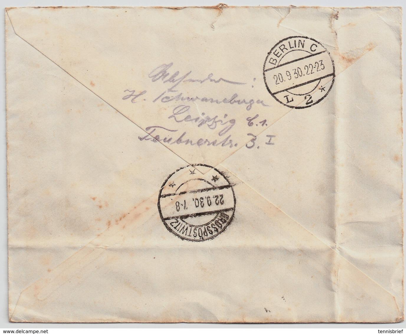 DR 1930 , , Block 1 Auf Brief , Echt Gelaufen !, Mi. 2400.- , #a836 - Deutschland