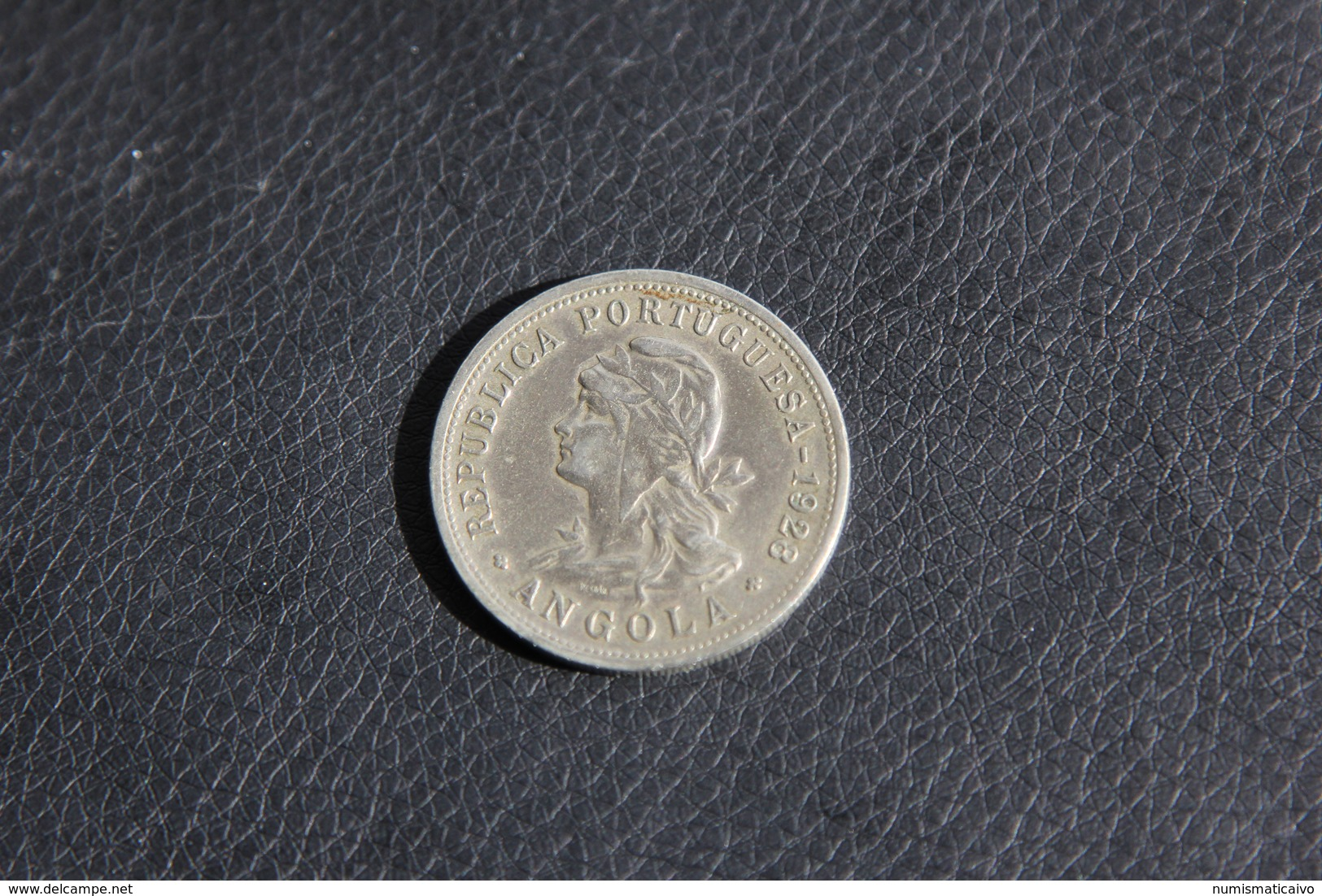 IVO 50 CENTAVOS 1928 ANGOLA PORTUGAL COIN - Angola