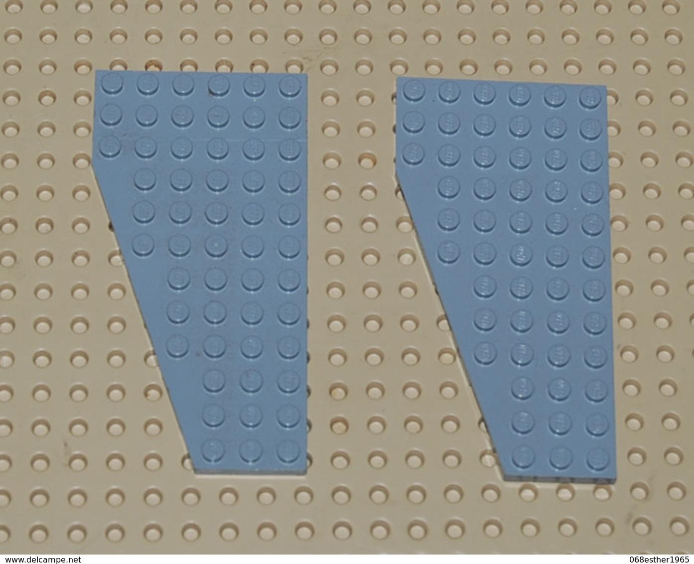 Légo Lot 2 X Plate Aile Right Droite Grise 6x12 Ref 30356 - Lego Technic
