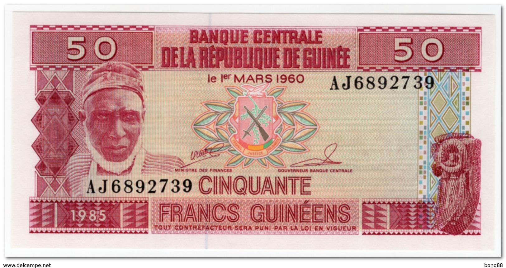 GUINEA,50 FRANCS,1985,P.29,UNC - Guinea
