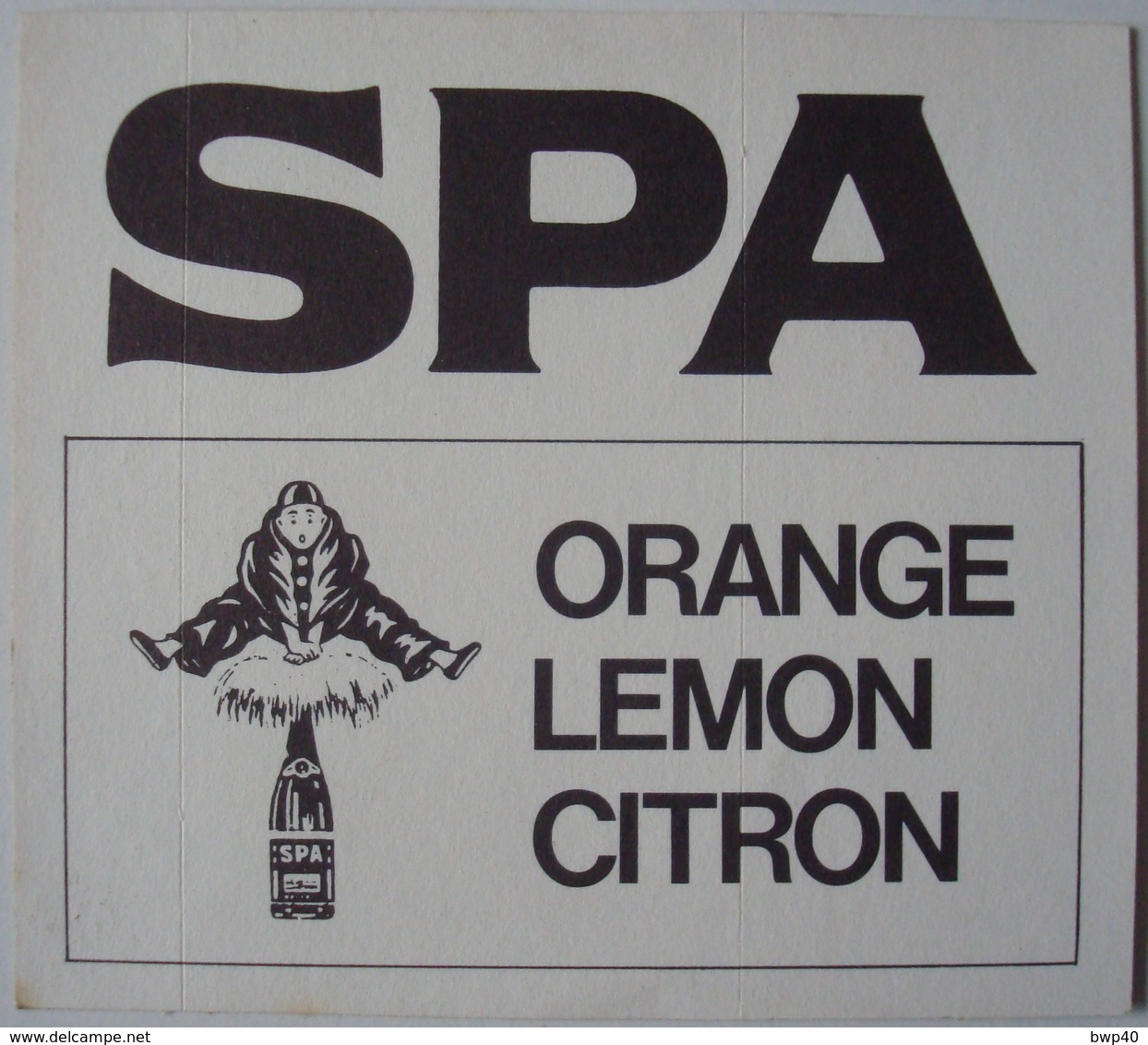 Roba. - Boule & Bill. - Autocollant Spa Orange. - Vintage. - Autocollants