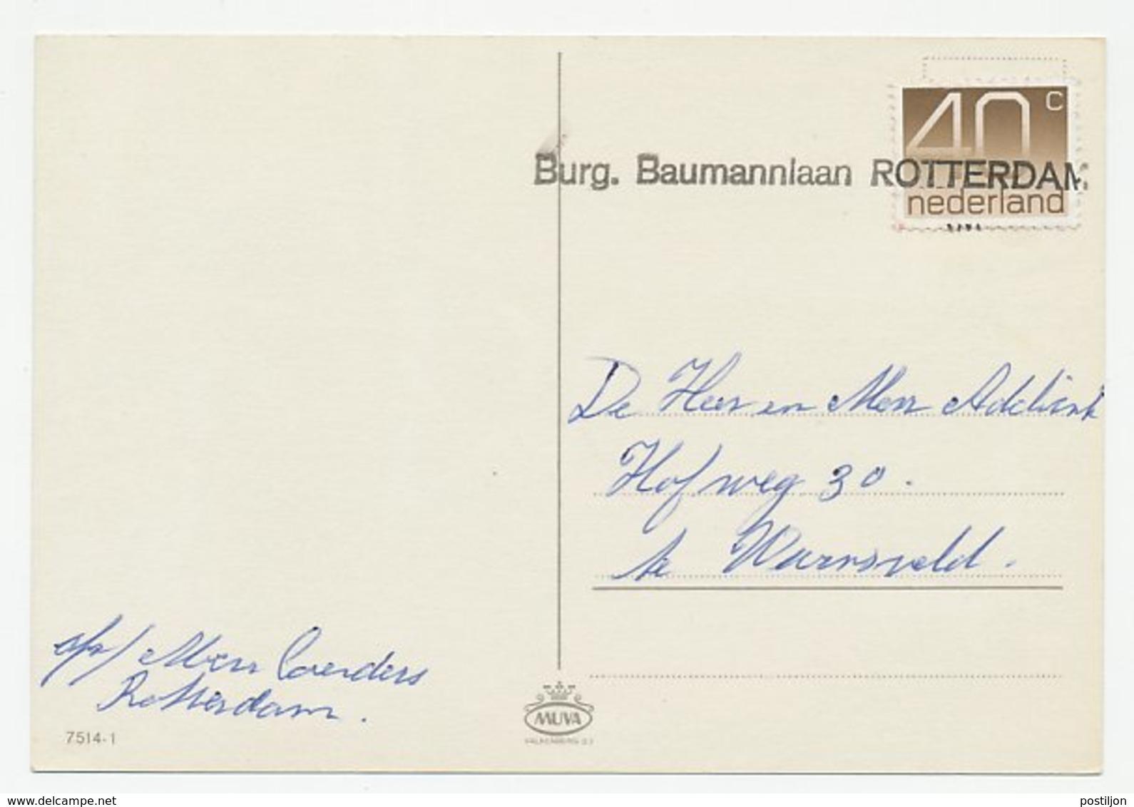 Nieuwjaarshandstempel : Burg. Baumannlaan Rotterdam - Periode 1949-1980 (Juliana)