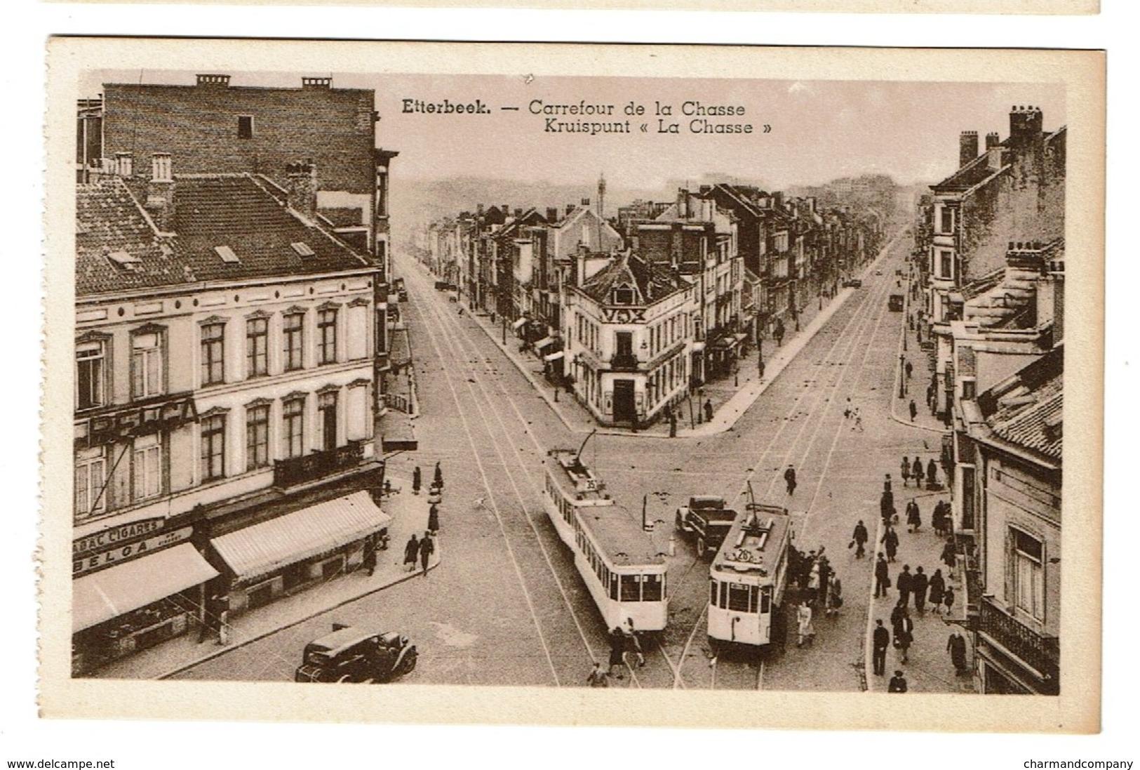Etterbeek - Carrefour De La Chasse Kruispunt - Edit. P.I.B. - 2 Scans - Etterbeek