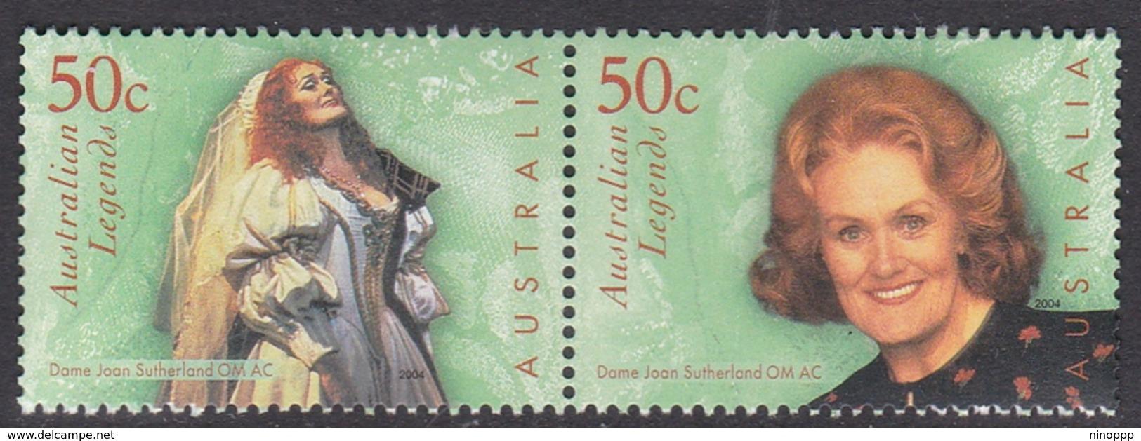 Australia ASC 2078-2079 2004 Australian Legends, Joan Sutherland, Mint Never Hinged - 2000-09 Elizabeth II