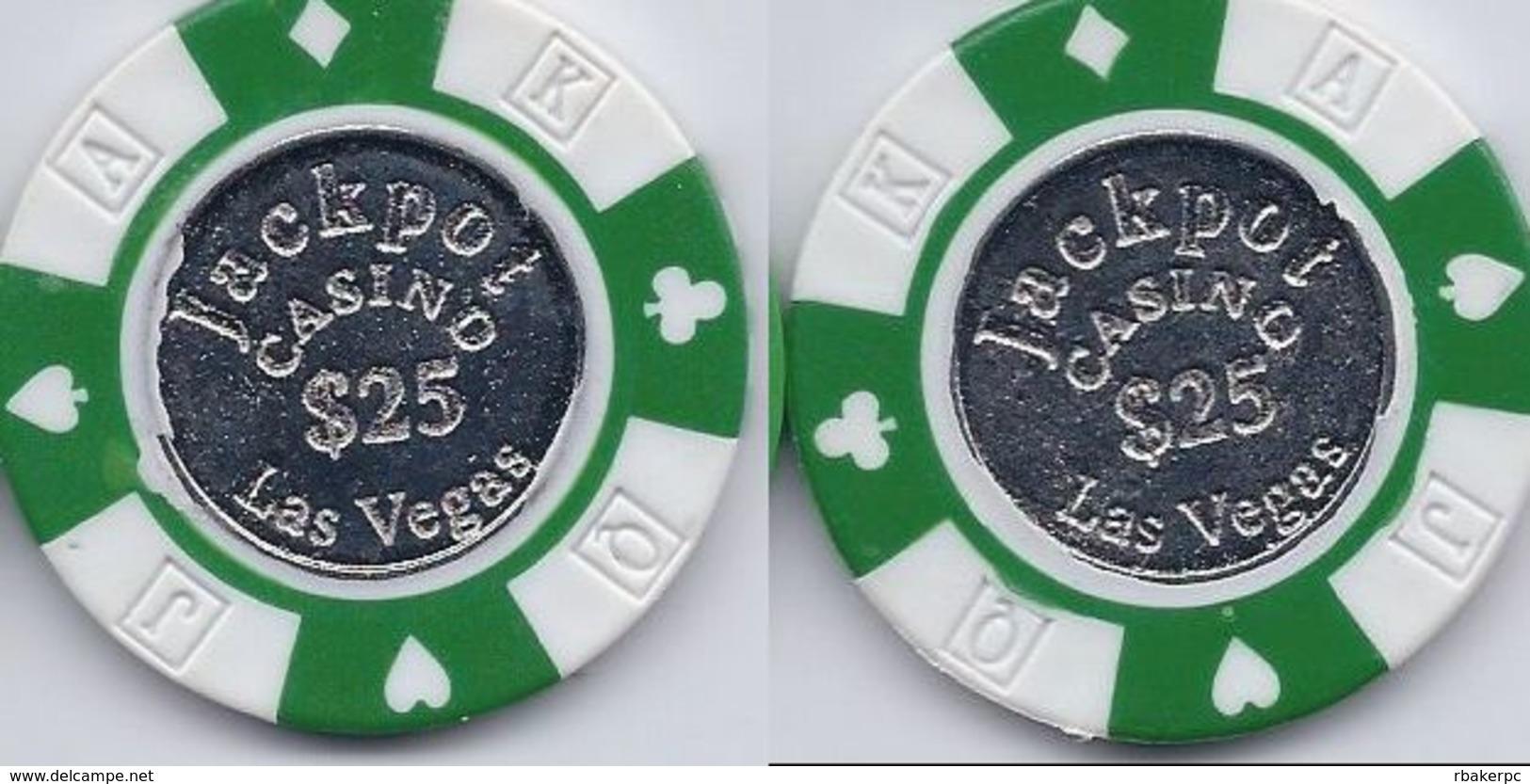 Jackpot Casino Las Vegas $25 Sample/Fantasy Chip - Casino
