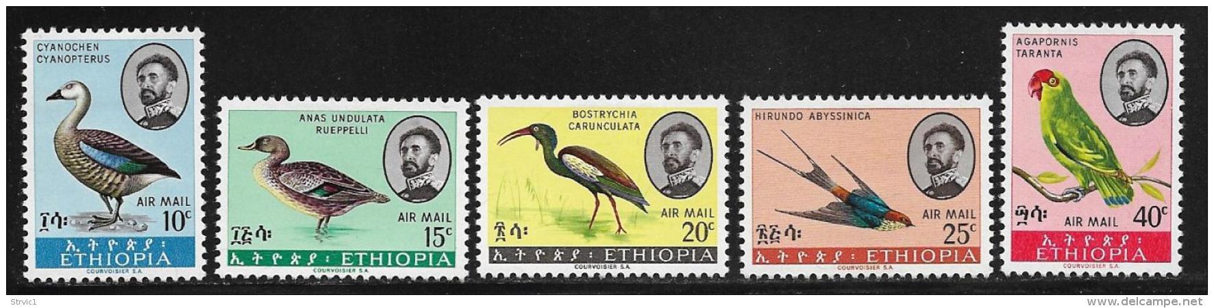 Ethiopia, Scott # C107-11 Mint Hinged Birds, 1967 - Ethiopia