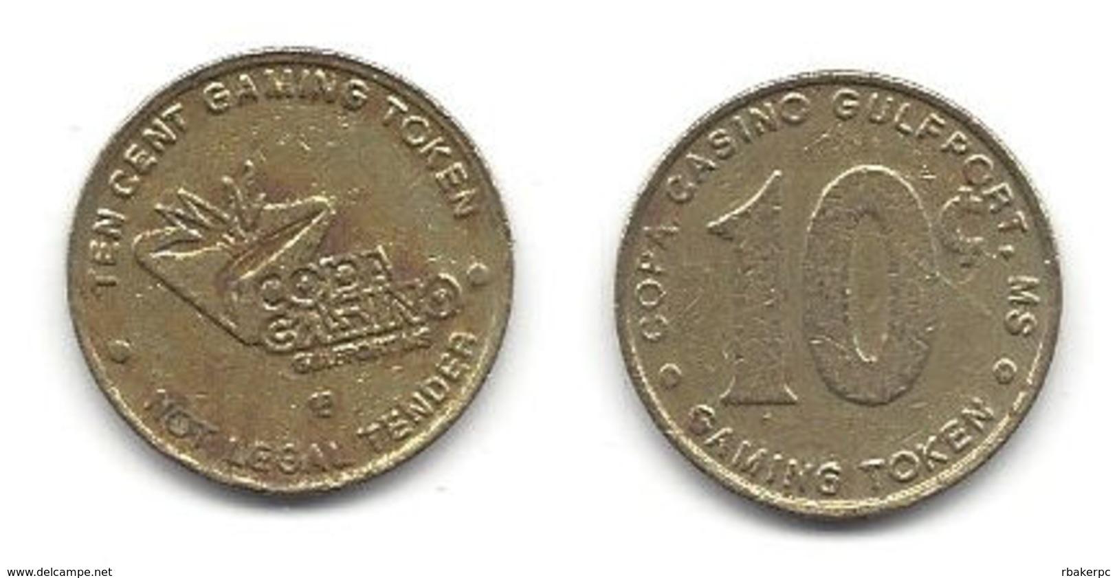 Copa Casino Gulfport MS 10 Cent Token - Casino