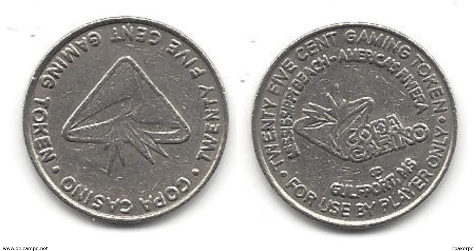 Copa Casino Gulfport MS 25 Cent Token - Casino