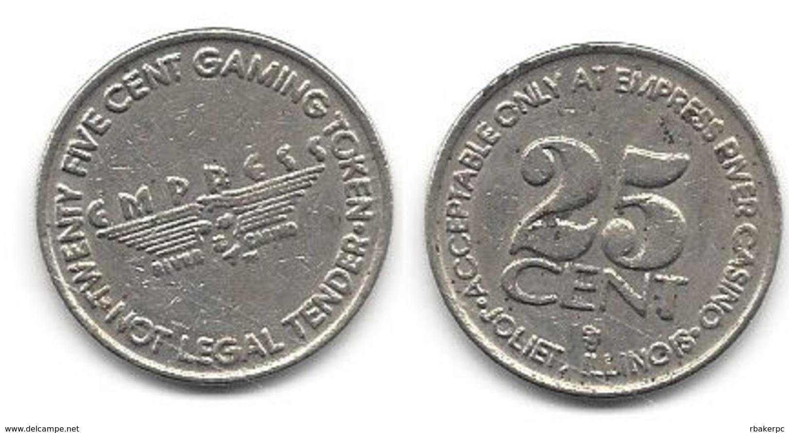 Empress Casino Joliet IL 25 Cent Token - Casino