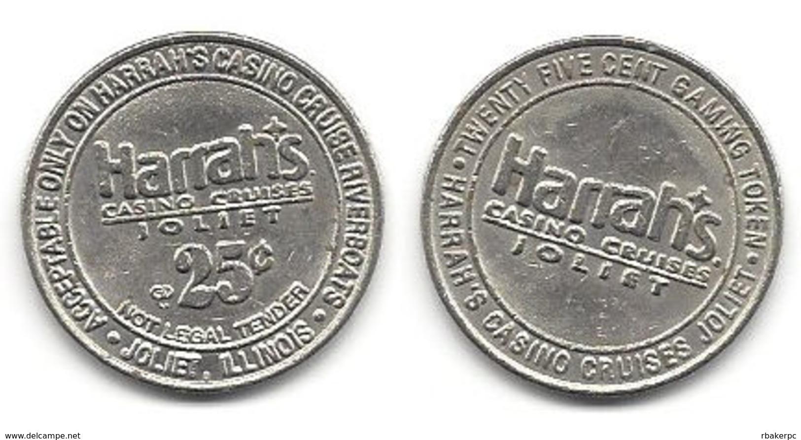 Harrah's Casino Joliet IL 25 Cent Token - Casino