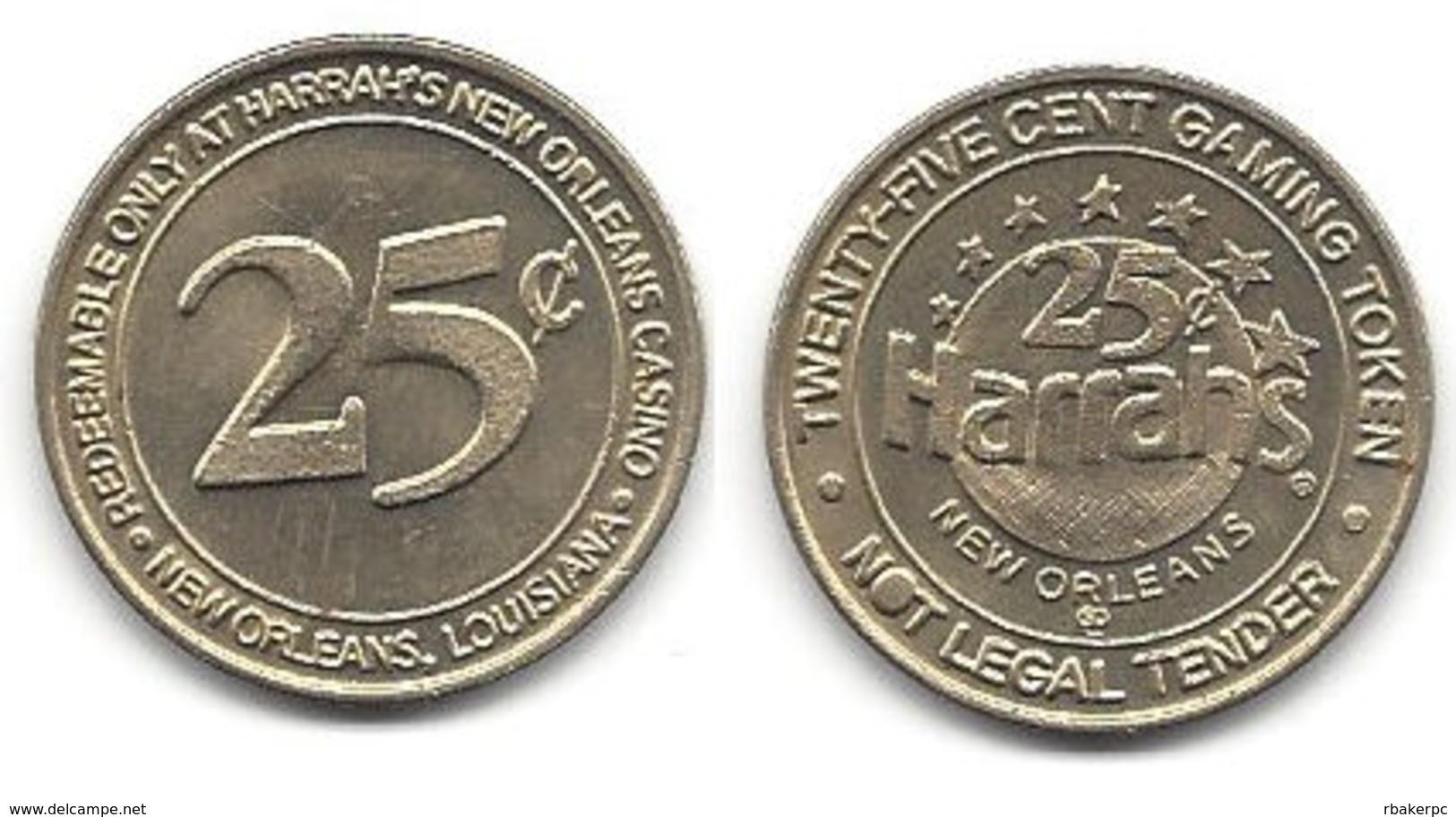 Harrah's Casino New Orleans LA 25 Cent Token - Casino