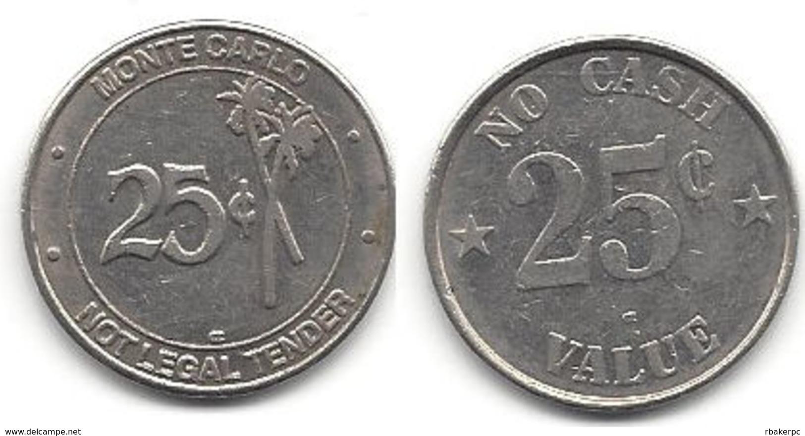 Monte Carlo Casino 25 Cent Token - Casino