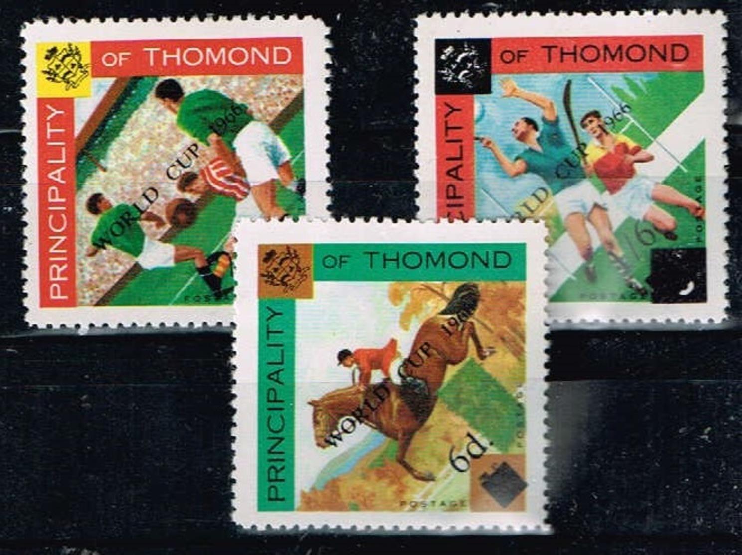 Principality Of Thomond.1966 World Cup.Soccer.Football.Fussball.Overprint.MNH** - 1966 – Inglaterra
