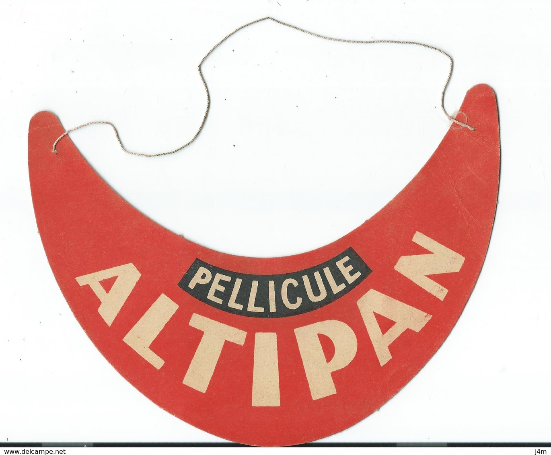 Ancienne VISIERE CASQUETTE Publicitaire Pellicule ALTIPAN - Casquettes & Bobs
