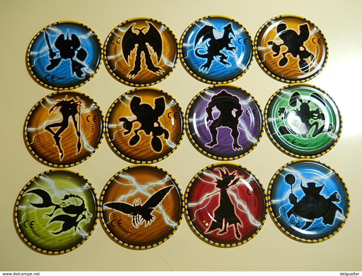 Lot Of 12 Yu-Gi-Oh! Mega Metal Tazos - Figurines