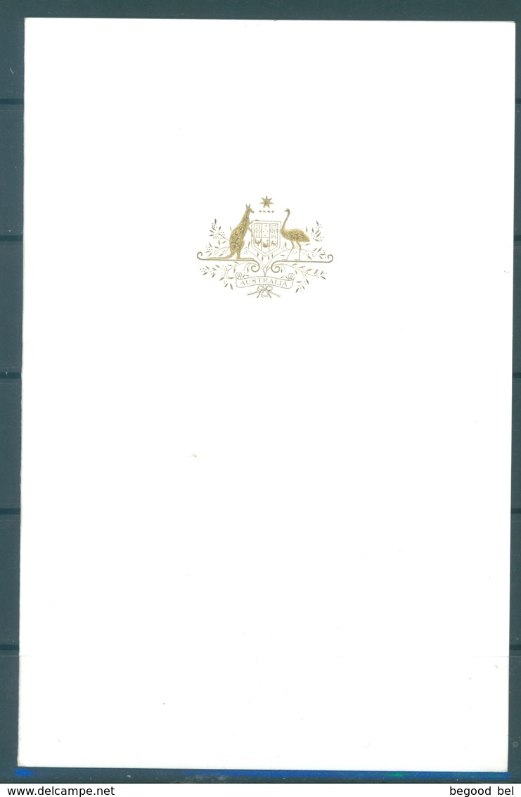 AUSTRALIA -  1981 CHRISTMAS CARD PRIME MINISTER MALCOM FRASER -  Lot 17715 - RARE !!! - Autographes