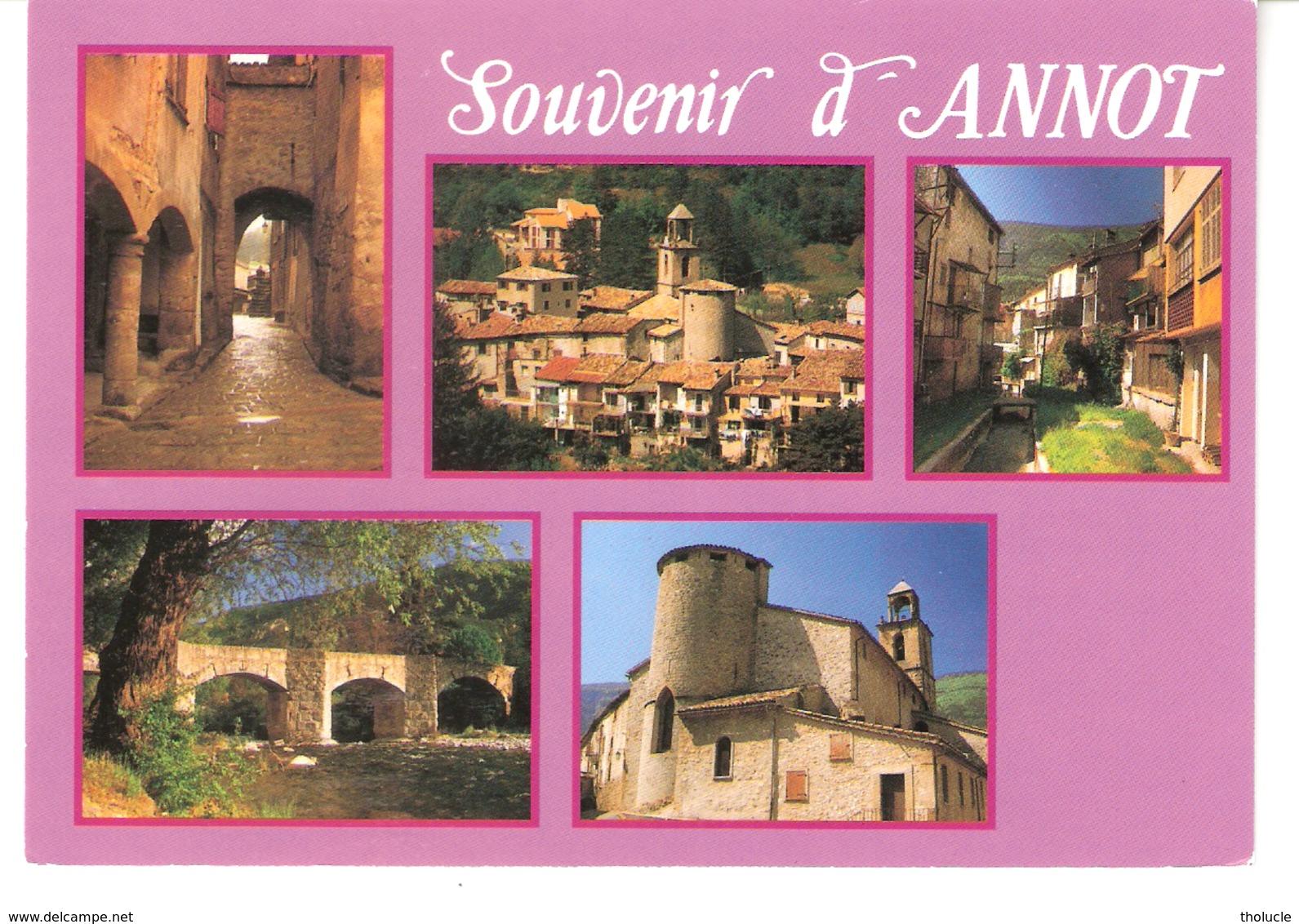 Souvenir D'Annot (Castellane-Alpes De Haute-Provence)-Multivues-Village-Bourg Situé Sur Les Bords De La Varie - Castellane