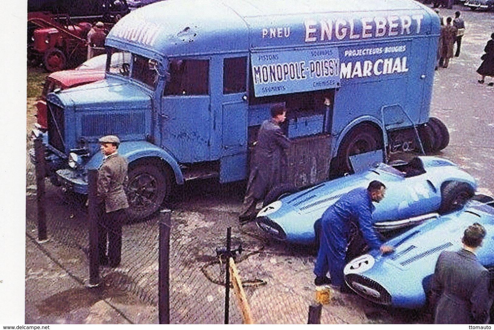 Grand Prix D'Angleterre 1956  -  Equipe Gordini - Camion Lancia - Pilotes: Manzon-Ramos     -  15x10 PHOTO - Grand Prix / F1