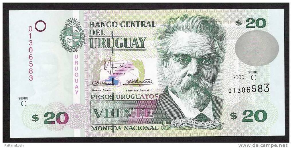 URUGUAY  P83  20 PESOS URUGUAYOS  Serie C  2000 - Uruguay