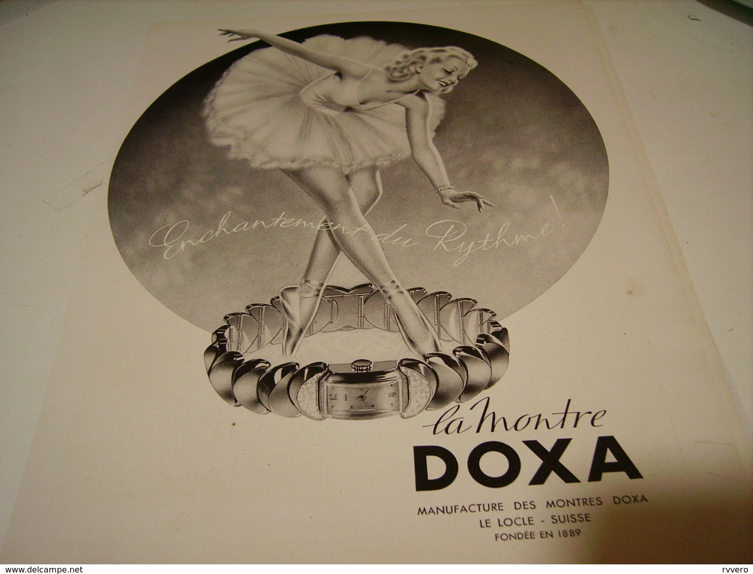 ANCIENNE PUBLICITE MONTRE DOXA 1942 - Bijoux & Horlogerie
