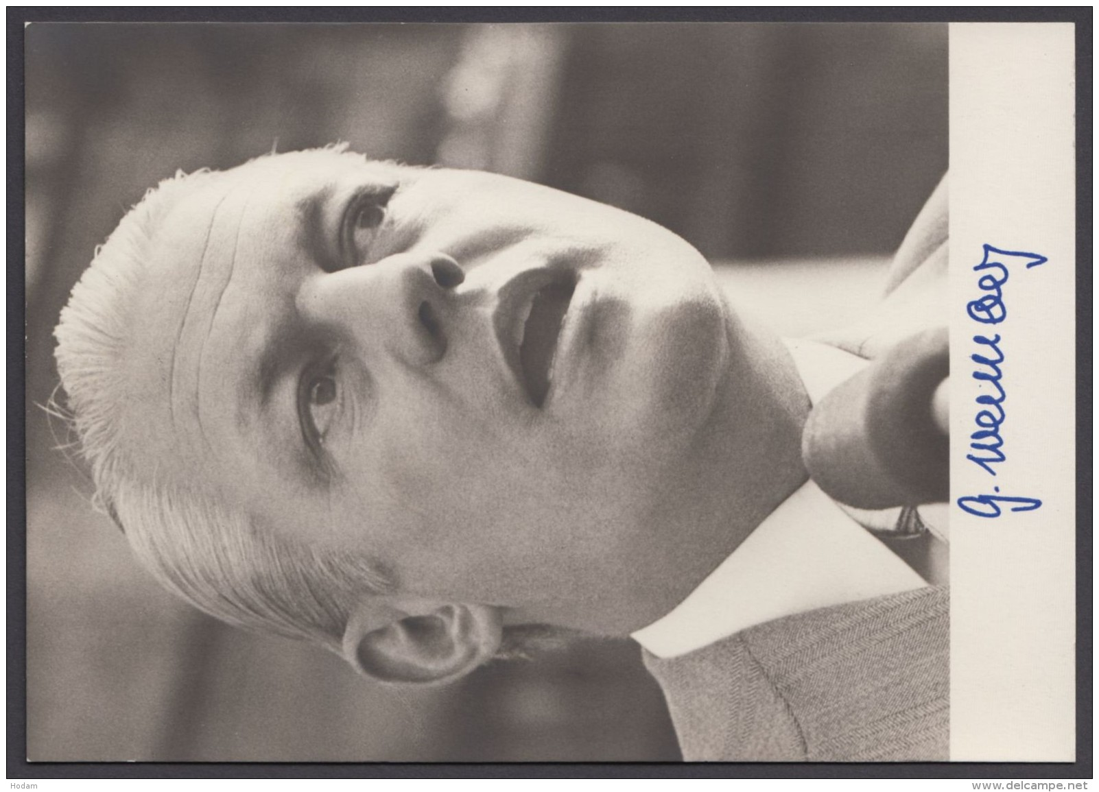 """""""Gerhard Stoltenberg"""", Fotokarte Mit Unterschrift, * - BRD"""