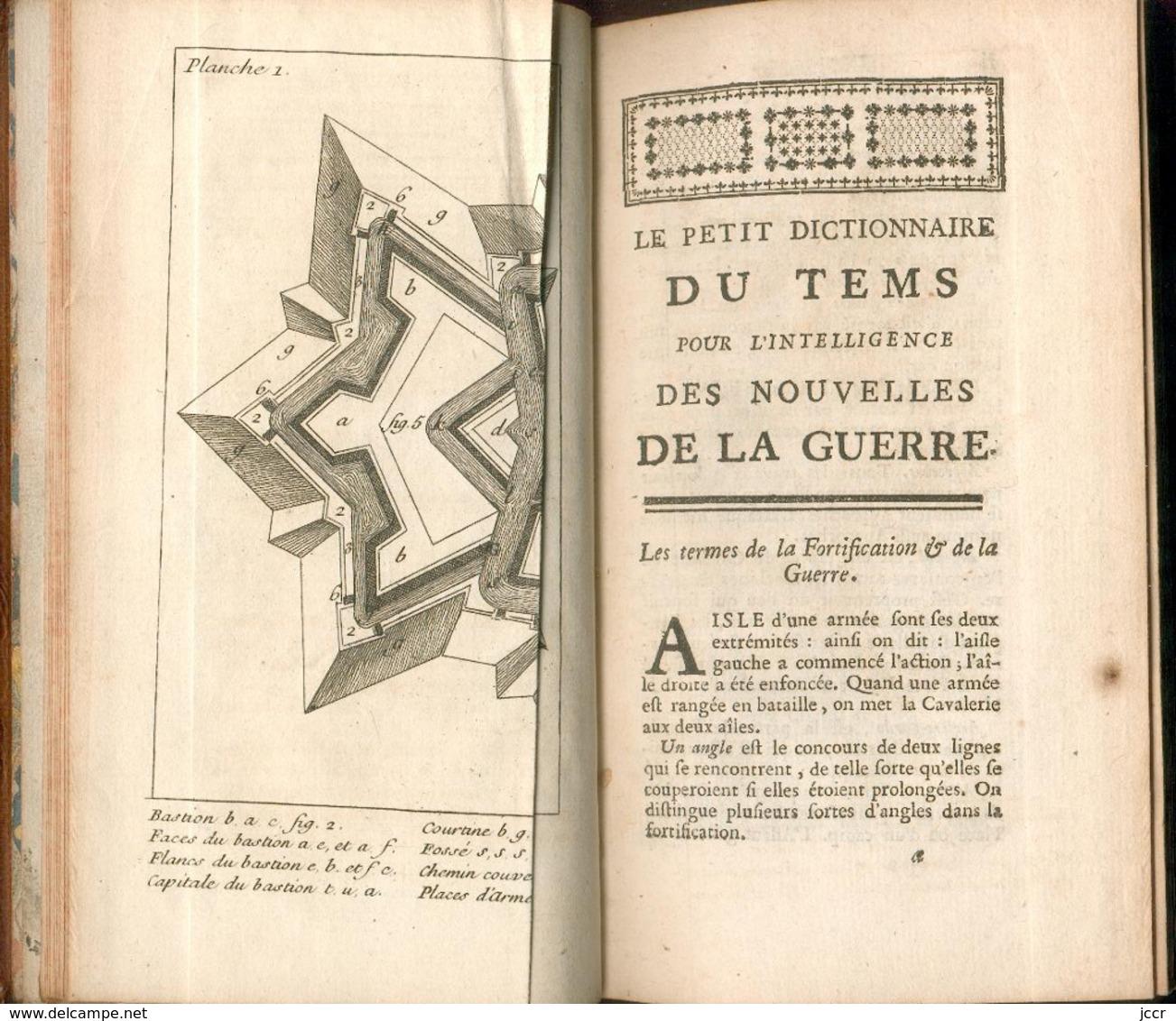 Le Petit Dictionnaire Du Tems, Pour L'intelligence Des Nouvelles De La Guerre Par M.L'Admiral - 1747 - 1701-1800