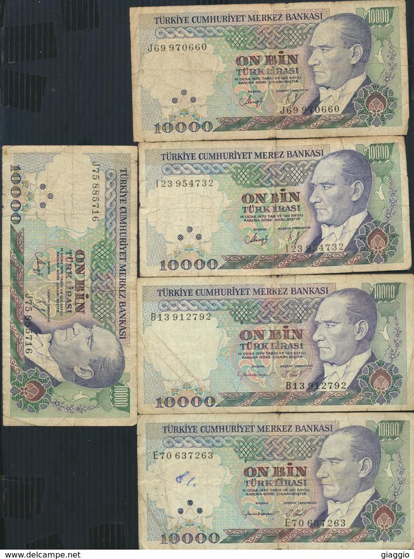 °°° TURKEY - 10000 LIRA 1970 °°° - Turchia