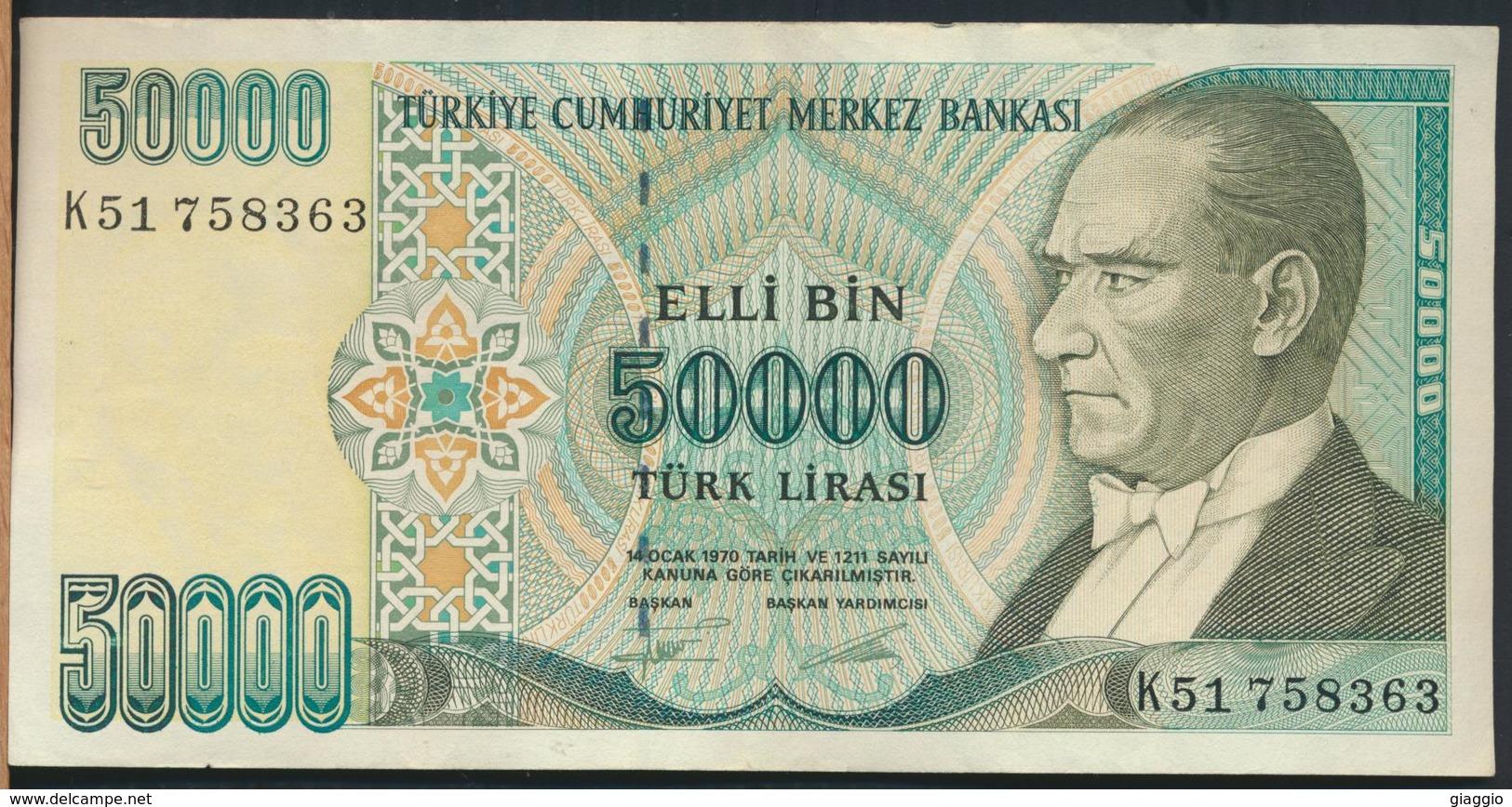 °°° TURKEY - 50000 LIRA 1970 °°° - Turchia