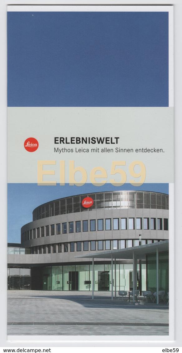 Wetzlar (Hessen), Leitz-Park, Leica, Erlebniswelt, Falten 8 Seiten, Dépliant 8 Pages, 10,50x22,00 - Fotografia