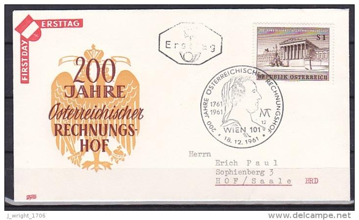 Austria/1961 - Court Of Accounts/Rechnungshof - 1 S - FDC - FDC
