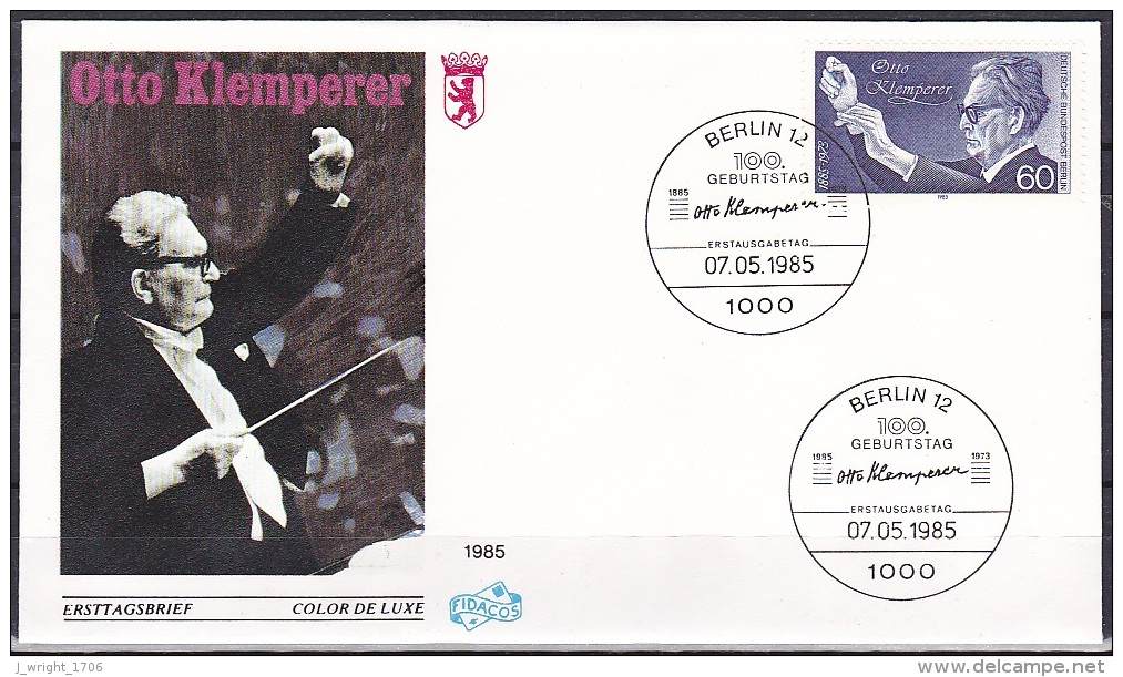 Berlin/1985 - Otto Klemperer - 60 Pf - FDC - Berlin (West)