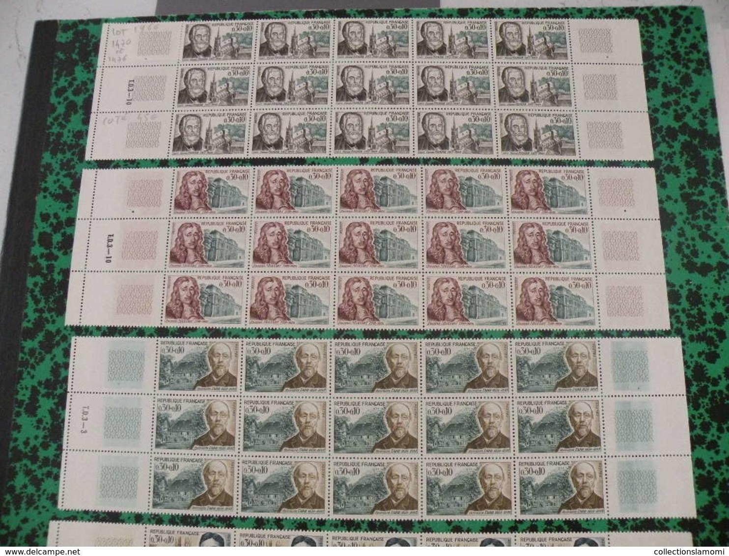 6 Bandes Neufs 1966 - S P Fournier,F Mansart,M Proust,G Faure,E Metchnickoff,H Taine - Coté 216€ Y&T N°1470 à 1475 - Collections