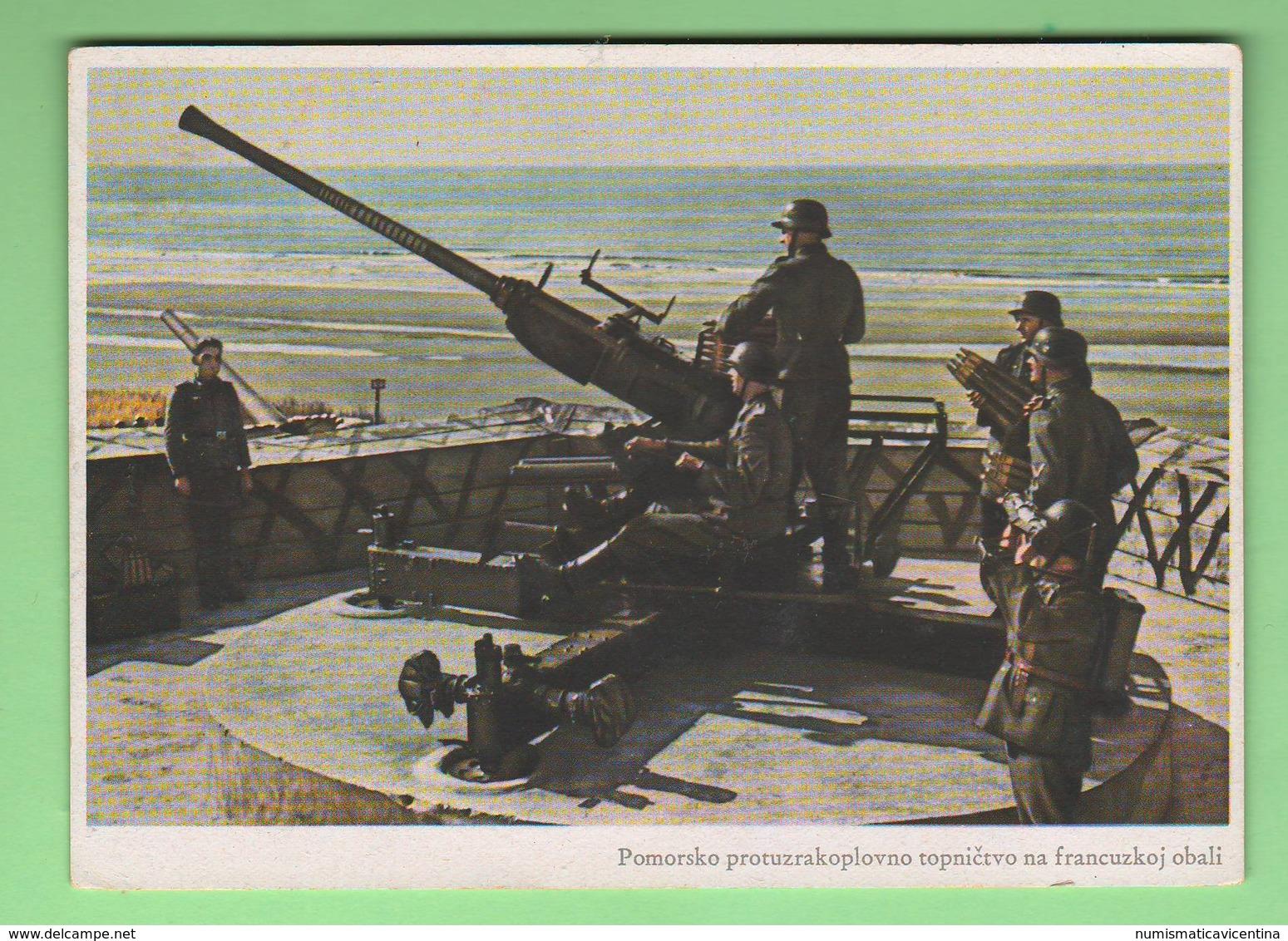 Pomerania Baltic Sea Flugabwehr Antiaerea Tedesca Old Foto Anni '40 Soldiers Avion - Weltkrieg 1939-45