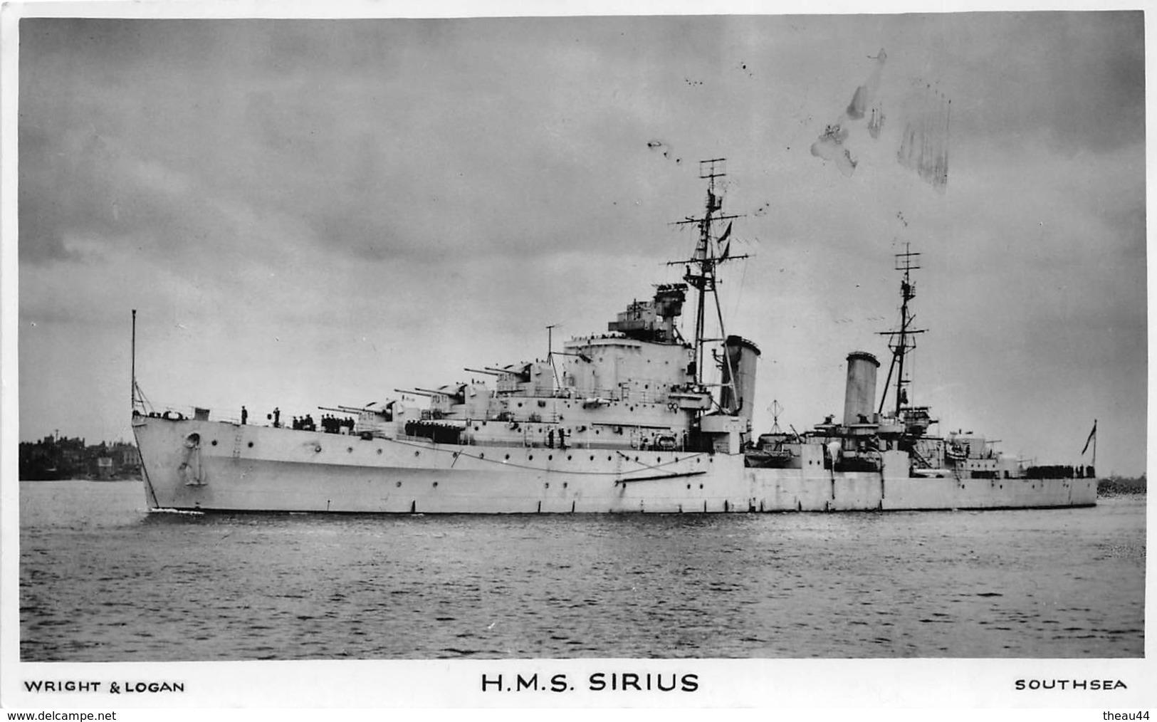"""¤¤  -  Carte-Photo Du Croiseur  """" SIRIUS """"     -  ¤¤ - Guerra"""