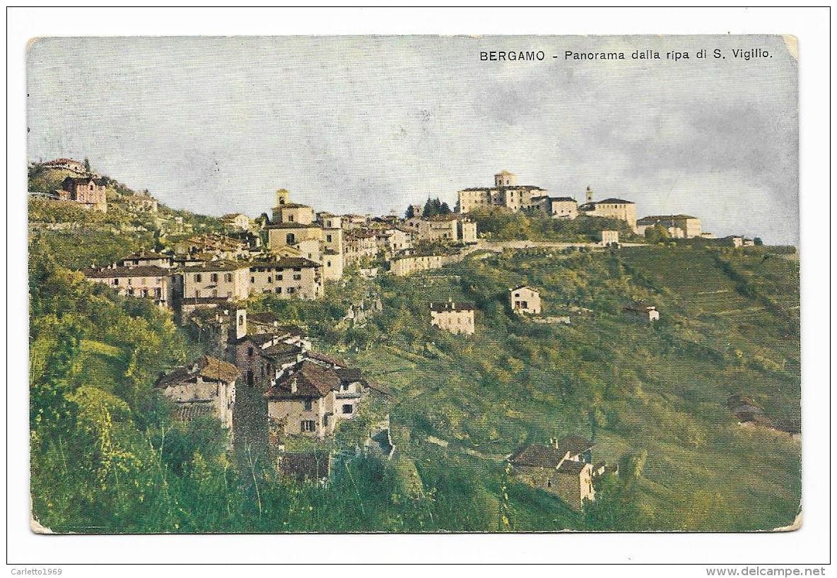 BERGAMO - PANORAMA DALLA RIPA S.VIGILIO  VIAGGIATA FP - Bergamo