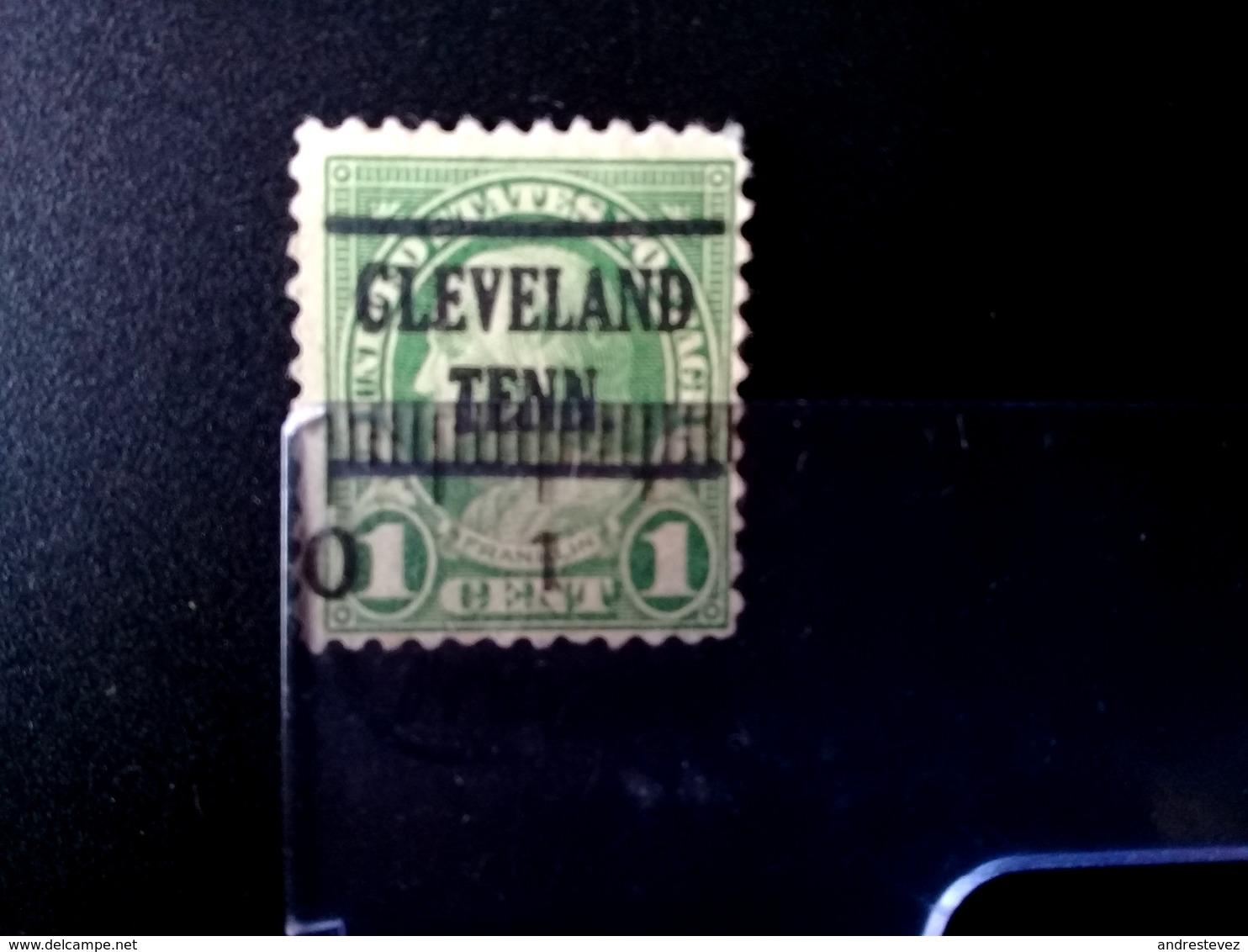 1centavo Benjamin Franklin Clevelan Teen.  Scott. 596 - Usados