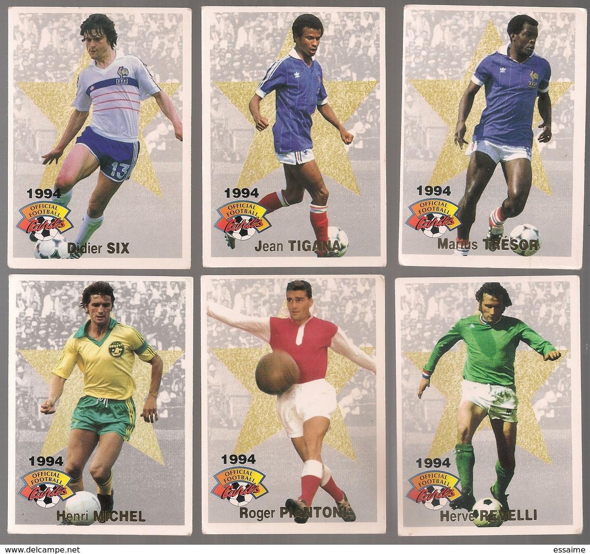 6 Cartes Panini Football 1994 Cards Official. Trésor Six Tigana Revelli  Piantoni Michel - Other