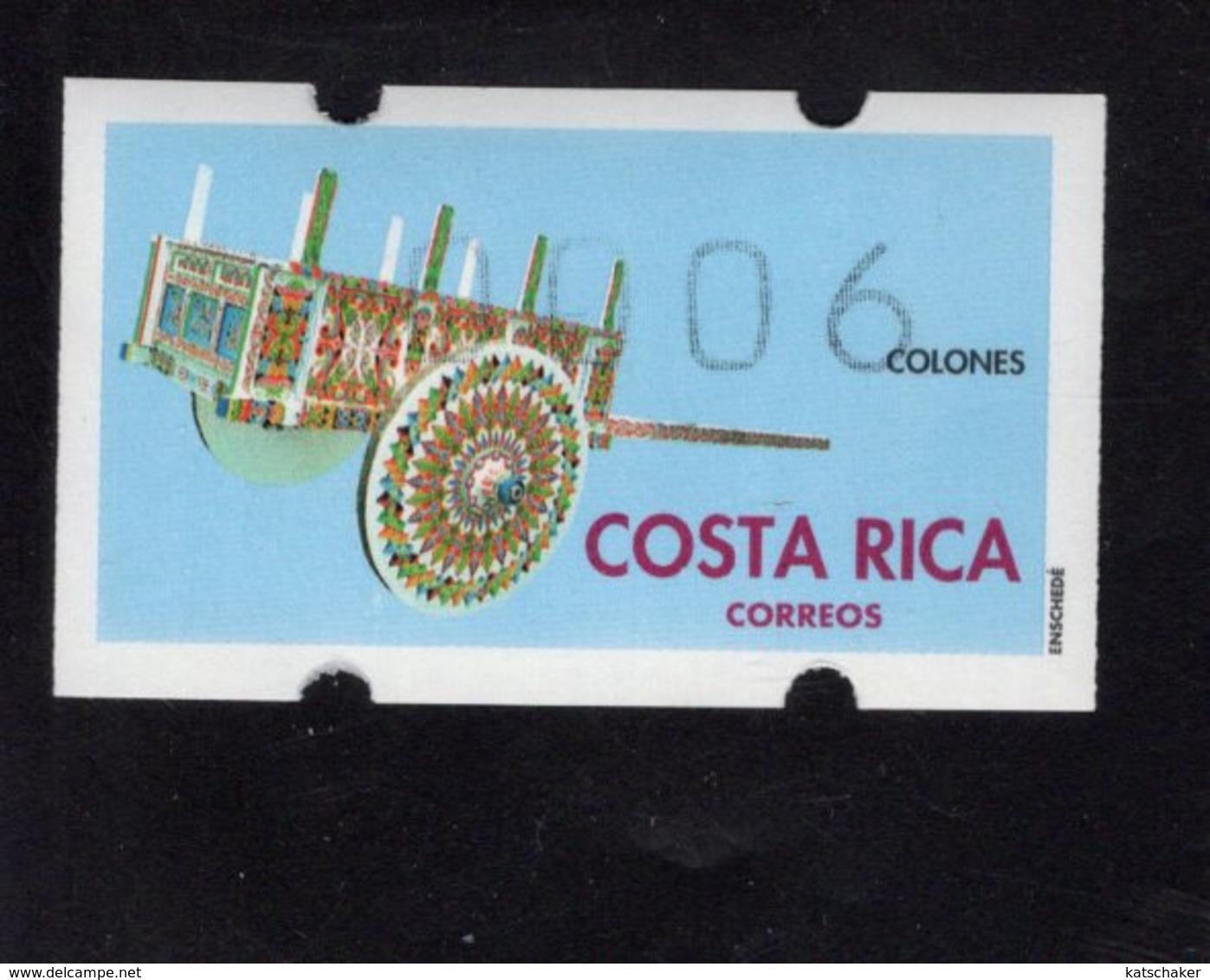 613456450 AUTOMAATZEGELS SET MICHEL 1 1993 - Costa Rica