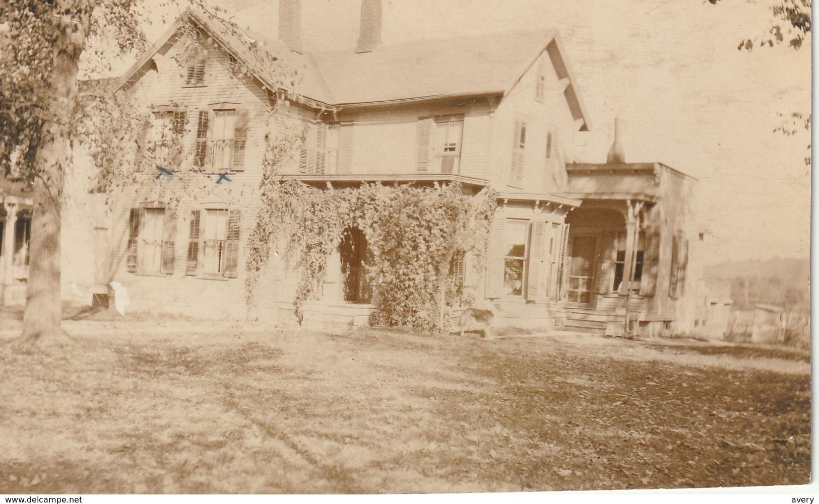 Residence #47 Clarendon, West Rutland, Vermont RPPC - Rutland